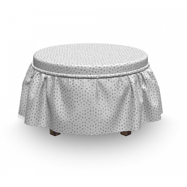 Small Squares Ottoman Slipcover (Set Of 2) By East Urban Home