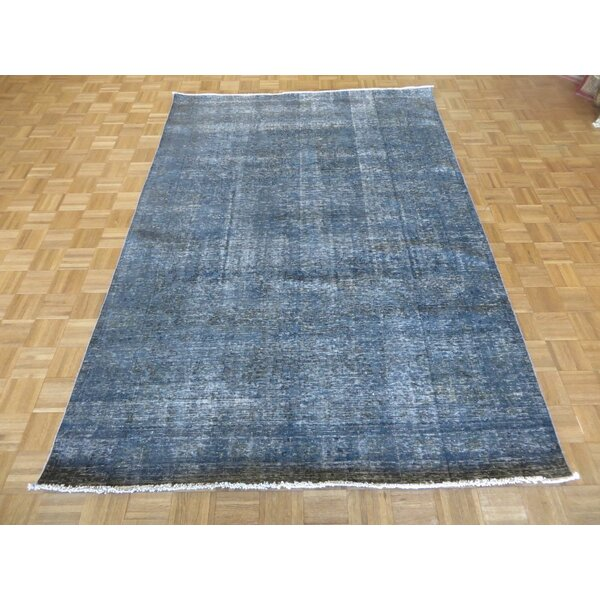 One-of-a-Kind Padro Hand-Knotted Wool Blue Area Rug by Bloomsbury Market