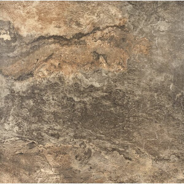 American Slate 13 x 13 Porcelain Wood Field Tile in Safari Green by Tesoro