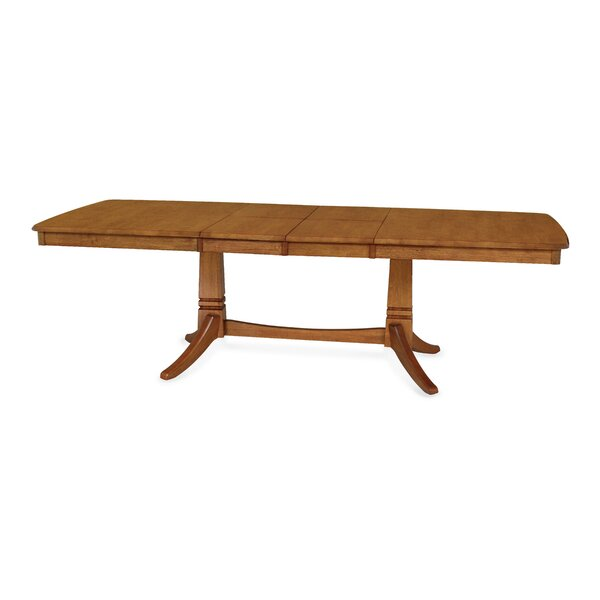 Hillier Extendable Solid Wood Dining Table by August Grove August Grove