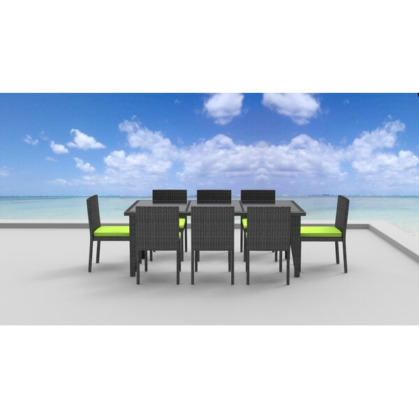 9 Piece Dining Set with Cushions by Brayden Studio