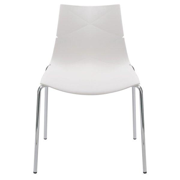 Geo Accent Stacking Patio Dining Chair (Set of 4) by Diamond Sofa Diamond Sofa