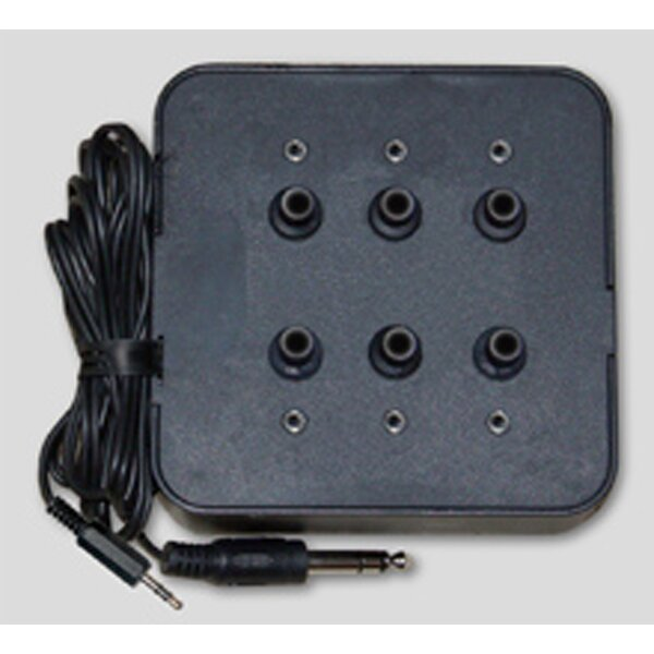 Six Position Socket Stereo Jack Box in Black by Avid