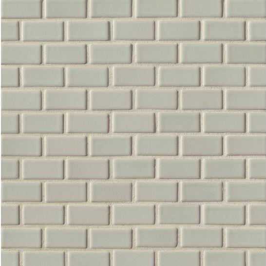 Portofino 1 x 2 Ceramic Mosaic Tile in Gray by Grayson Martin