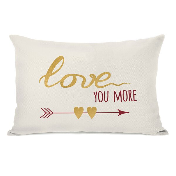 Edison Love You More Arrows Lumbar Pillow by Ivy Bronx