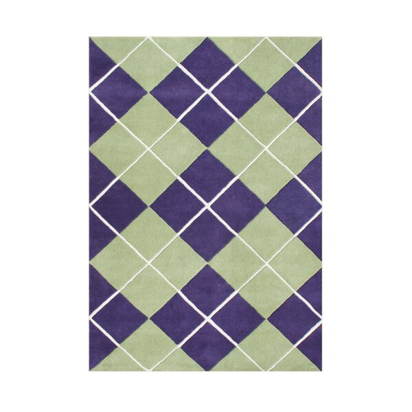 Shoals Hand Tufted Wool Purple Area Rug by Red Barrel Studio