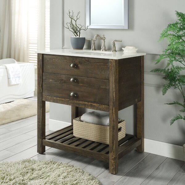 Ladwig 1 Drawer 30 Single Bathroom Vanity by Mercer41