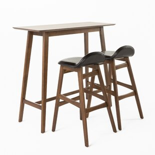 Adriana 3 Piece Pub Table Set  sc 1 st  AllModern : pub table and chair set - pezcame.com