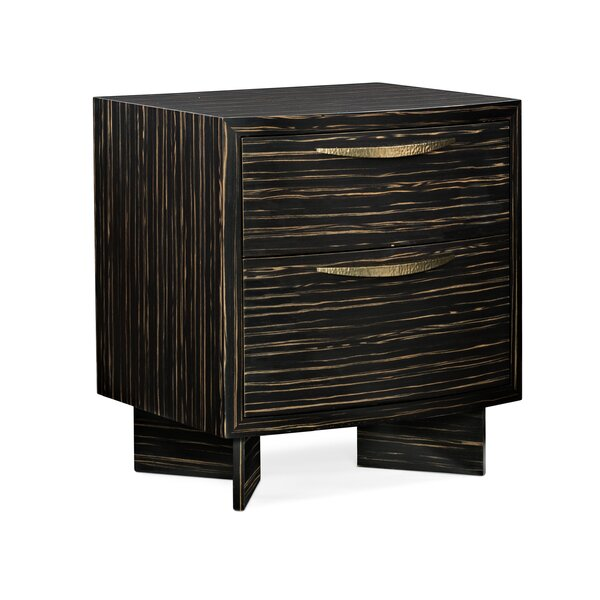Modern Edge Vector 2 Drawer Nightstand By Caracole Modern