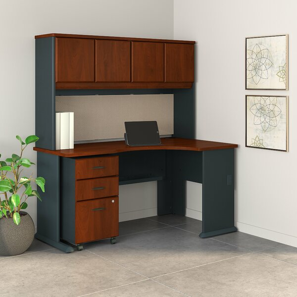 Series A Right Corner 3 Piece U-Shaped Desk Office Suite by Bush Business Furniture