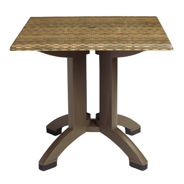 Atlanta 36 Square Resin Table in , Brown