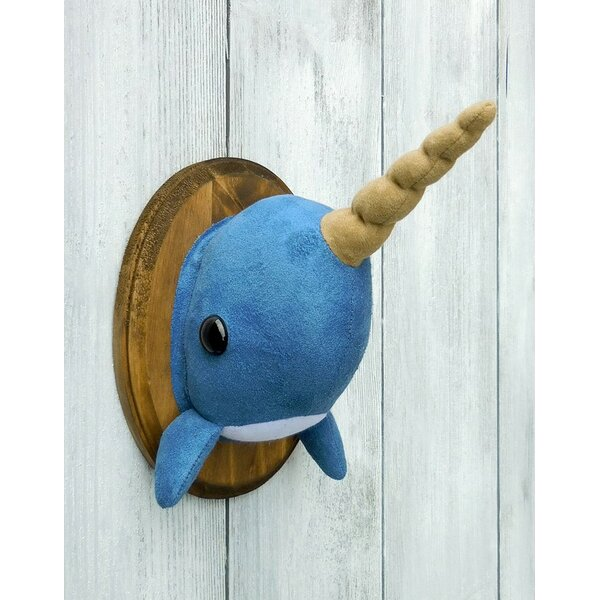 Narwhal Faux Taxidermy 3D Wall Décor by Zooguu