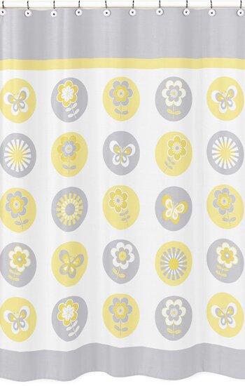 Mod Garden Cotton Blend Shower Curtain by Sweet Jojo Designs