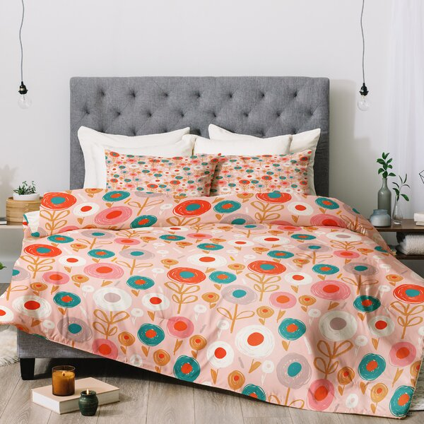 Wendy Kendall Crayon Floral Comforter Set