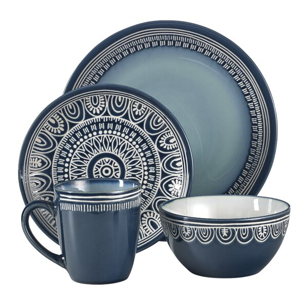 Jayda 16 Piece Dinnerware Set, Service for 4 by Mistana