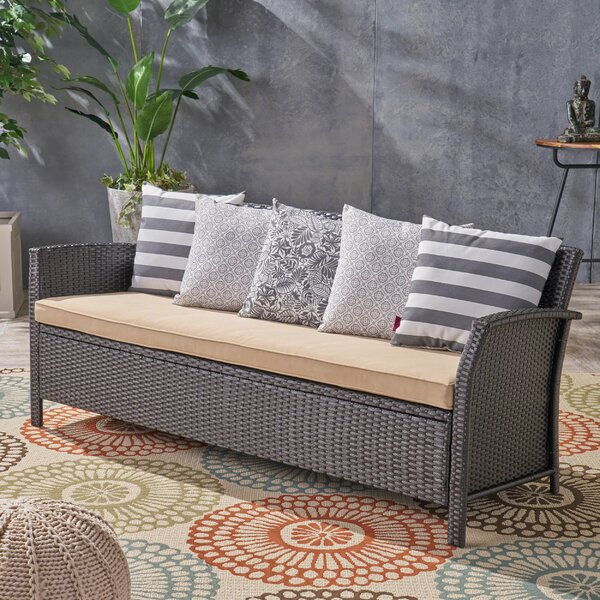 Corchado Patio Sofa with Cushion by Red Barrel Studio