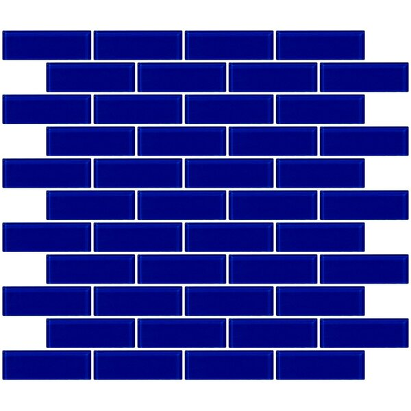 1 x 3 Glass Subway Tile in Glossy Cobalt Blue by Susan Jablon