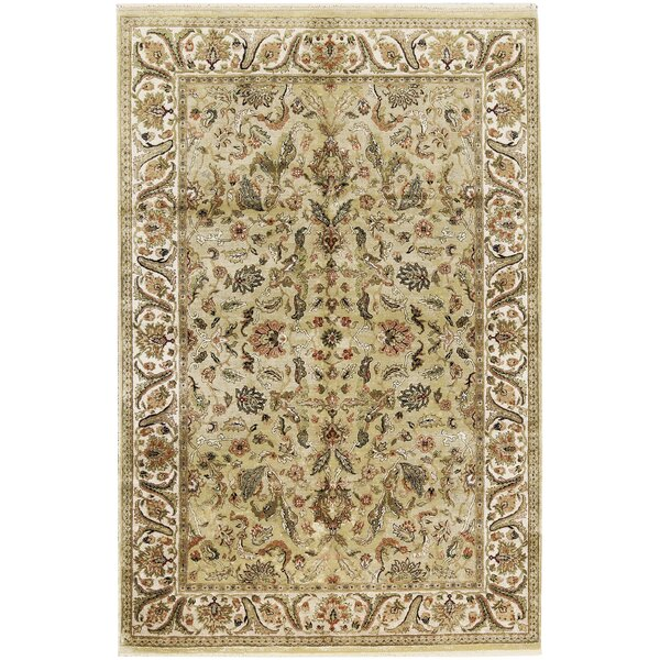 One-of-a-Kind Hand-Knotted Wool Gold/Ivory Area Rug by Bokara Rug Co., Inc.