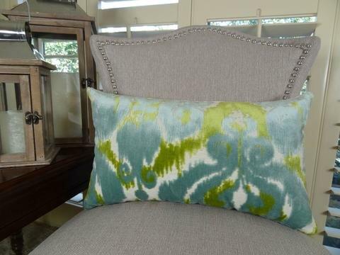 Velvet Bliss Water Double Sided Lumbar Pillow by Plutus Brands