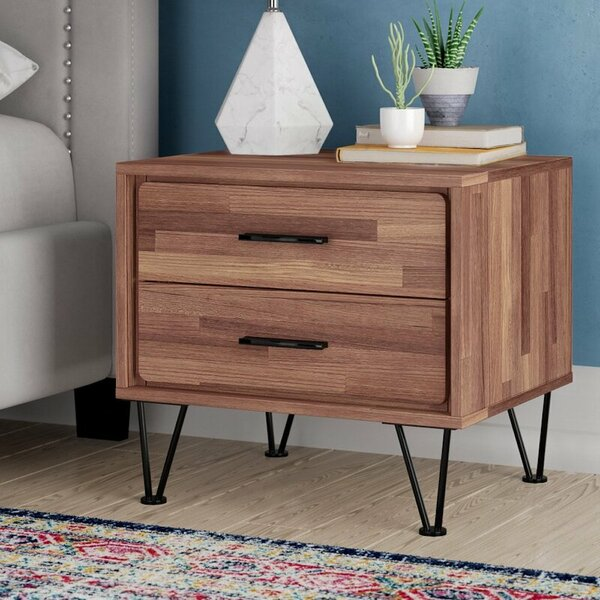 Morabito 2 Drawer Nightstand by Canora Grey