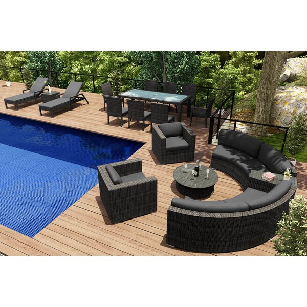 District 18 Piece Sunbrella Sectional Set with Cushions by Harmonia Living