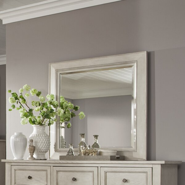 Stoughton Concave Framed Rectangular Dresser Mirror by Rosecliff Heights