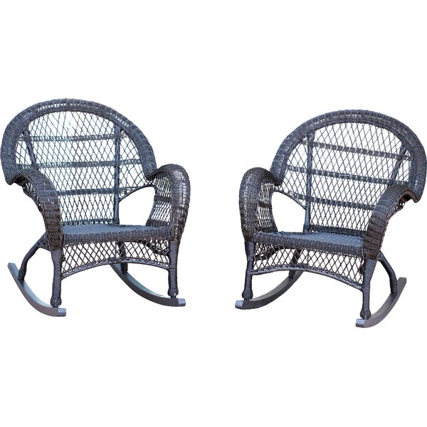 Byrd Wicker Rocker Chair (Set of 4) by One Allium Way