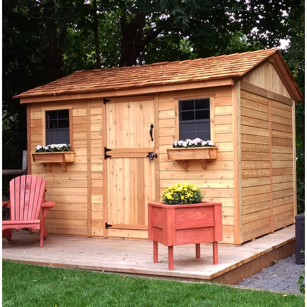 Cabana 12 ft. W x 8 ft. D Wood Storage Shed by Outdoor Living Today
