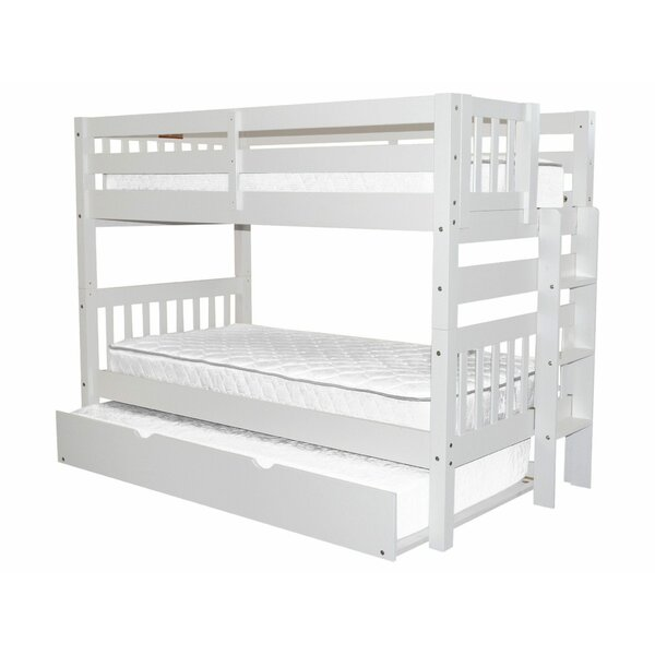 Treva Twin Over Twin Bunk Bed With Trundle By Harriet Bee by Harriet Bee Amazing