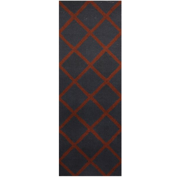 Hand-Tufted Navy/Brown Area Rug by Herat Oriental