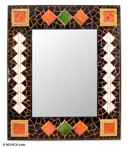 Sunshine in the Rain Wall Mirror by Novica