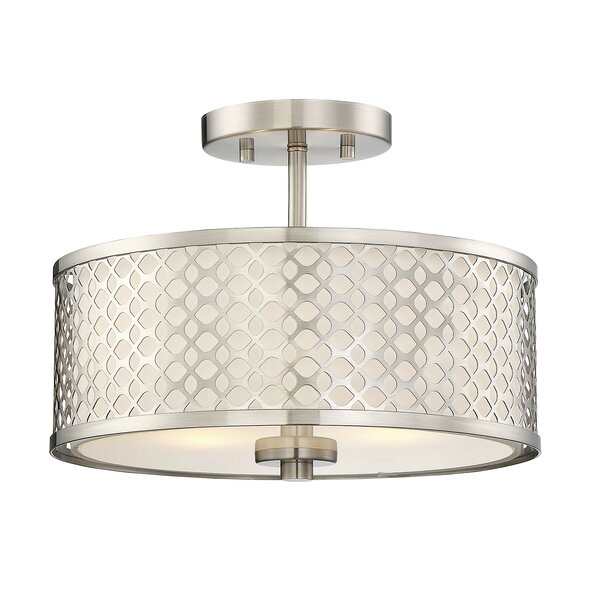 Coolidge 2-Light Semi Flush Mount by Willa Arlo In