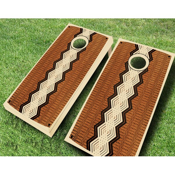 Retro Stained Xango Cornhole Set by AJJ Cornhole