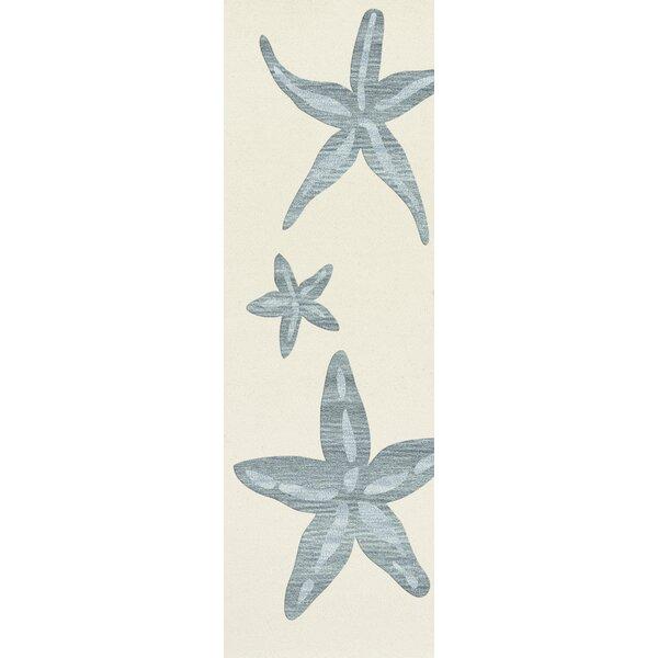 Hiltonia Floral Wool Beige/Blue Area Rug