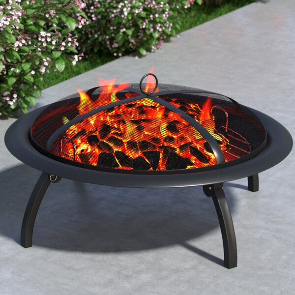 Classic Outdoor Steel Wood Burning Fire Pit by Regal Flame