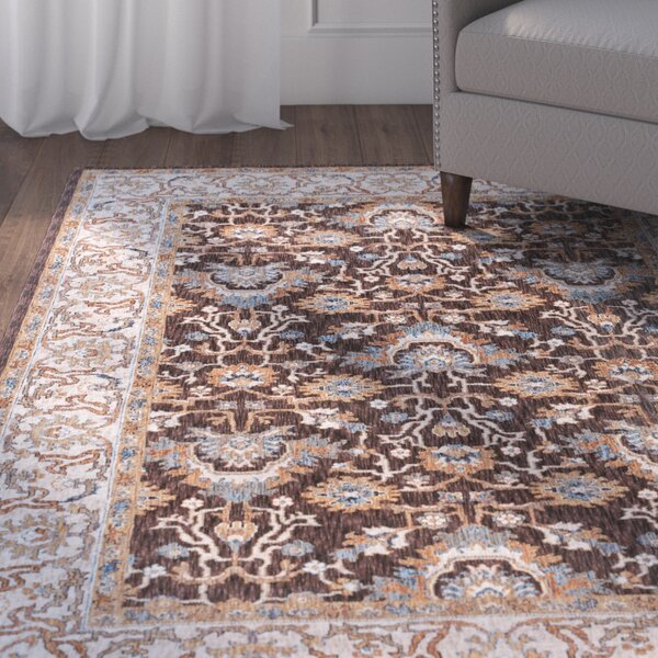 Matteson Traditional Brown/Orange Area Rug by Three Posts