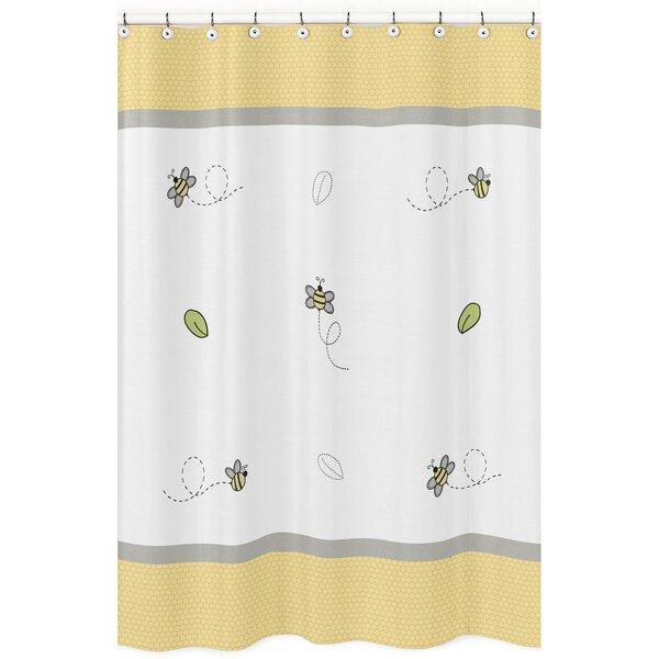 Honey Bee Cotton Shower Curtain by Sweet Jojo Designs