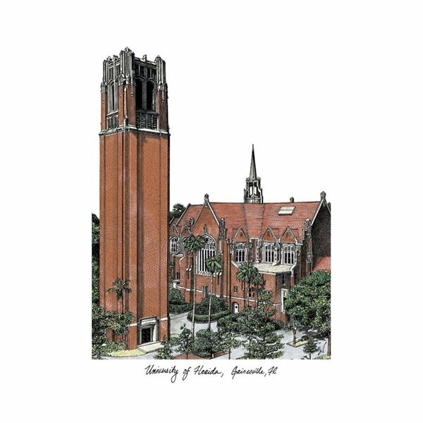 NCAA University of Florida Campus Images Lithograph Painting Print by Campus Images