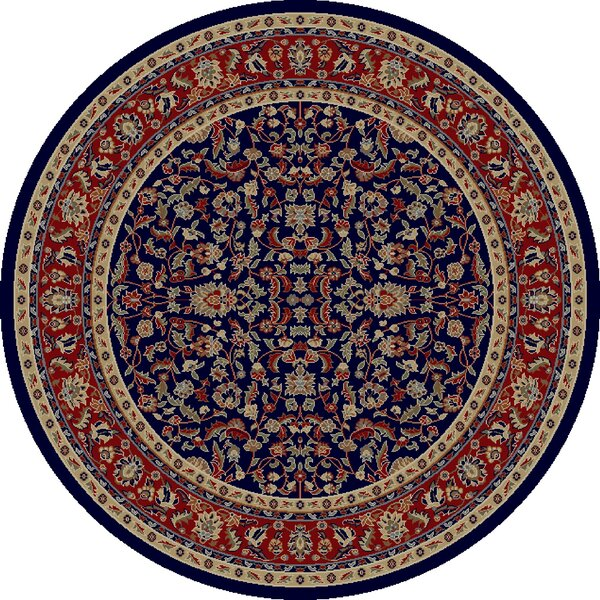 Jewel Kashan Navy Area Rug by Threadbind