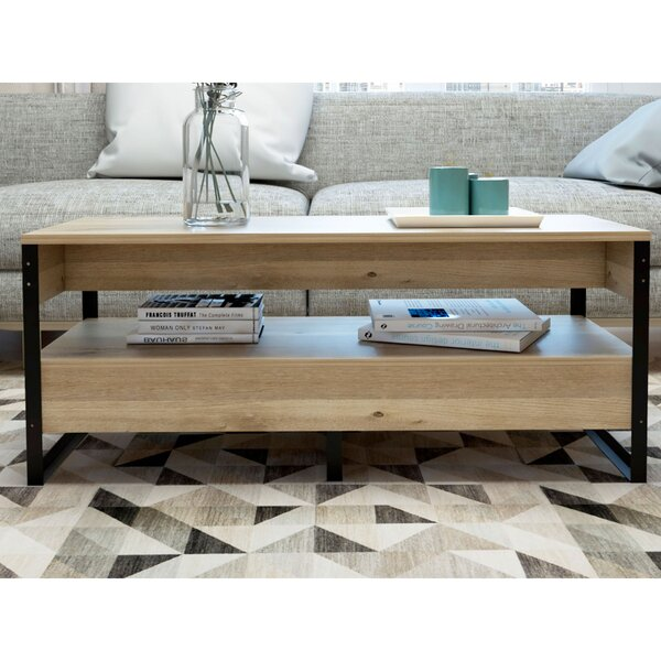 Kyrie Frame Coffee Table With Storage By Union Rustic