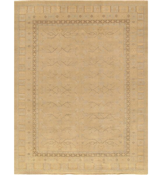 Khotan Hand-Knotted Beige Area Rug by Pasargad