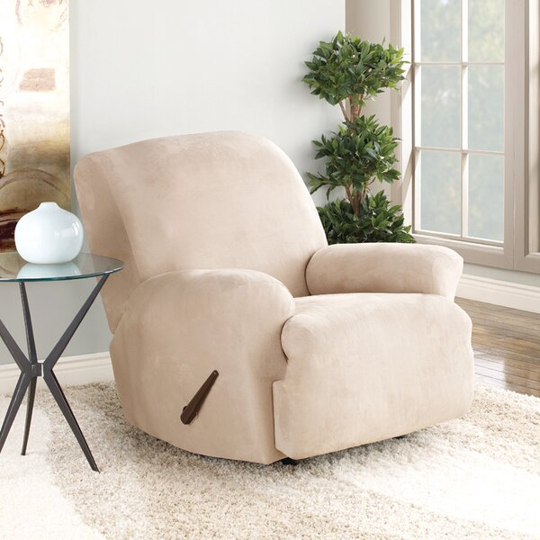 Stretch Suede T-Cushion Recliner Slipcover by Sure Fit
