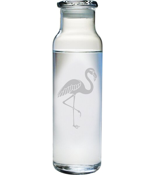 Flamingo Water Bottle by Susquehanna Glass