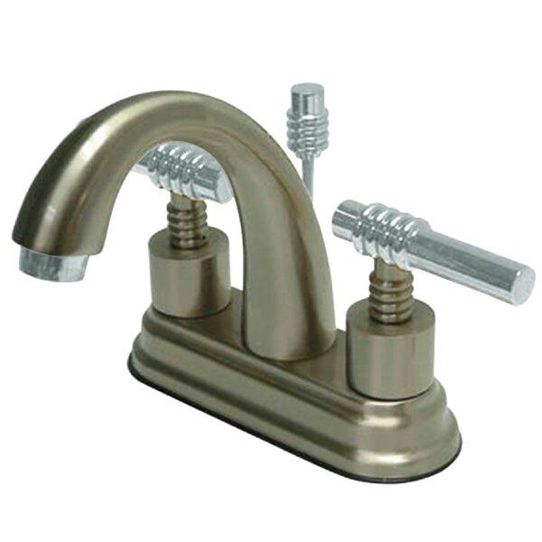 Milano Centerset Bathroom Sink Faucet with Brass Pop-up by Kingston Brass Kingston Brass