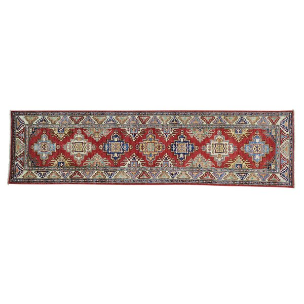 One-of-a-Kind Latimore Hand-Knotted Red/Ivory Area Rug by Canora Grey
