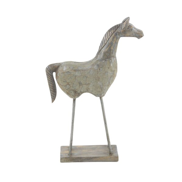 Garst Eclectic Horse Wood Figurine by Gracie Oaks