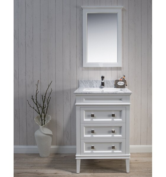 Briese 25 Single Bathroom Vanity Set with Mirror by Wrought Studio