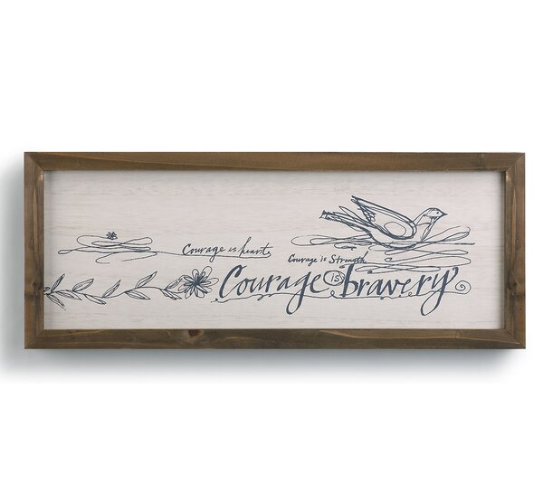 Poetic Threads Courage is Bravery Wall Décor by DEMDACO