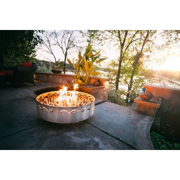 Fire Surfer Stainless Steel Fire Pit by Fire Pit Art