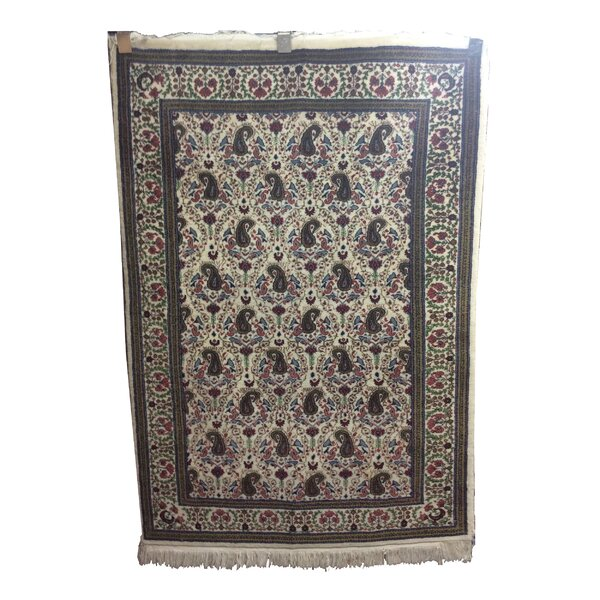 One-of-a-Kind Lydon Hand-Knotted Wool Ivory/Gray Area Rug by Astoria Grand